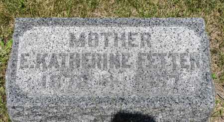 FETTER, E. KATHERINE - Crawford County, Ohio | E. KATHERINE FETTER - Ohio Gravestone Photos