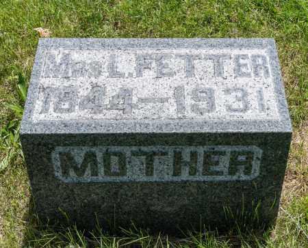 FETTER, FELICIA - Crawford County, Ohio | FELICIA FETTER - Ohio Gravestone Photos