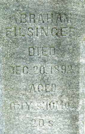 FILSINGER, ABRAHAM - Crawford County, Ohio | ABRAHAM FILSINGER - Ohio Gravestone Photos