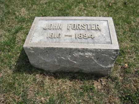 FORSTER, JOHN - Crawford County, Ohio | JOHN FORSTER - Ohio Gravestone Photos