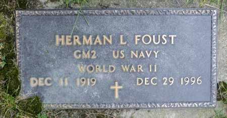 FOUST, HERMAN LESLIE - Crawford County, Ohio | HERMAN LESLIE FOUST - Ohio Gravestone Photos