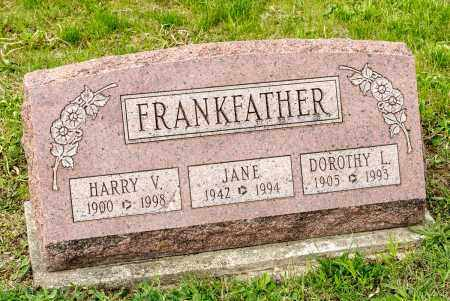 FRANKFATHER, JANE LOUISE - Crawford County, Ohio | JANE LOUISE FRANKFATHER - Ohio Gravestone Photos