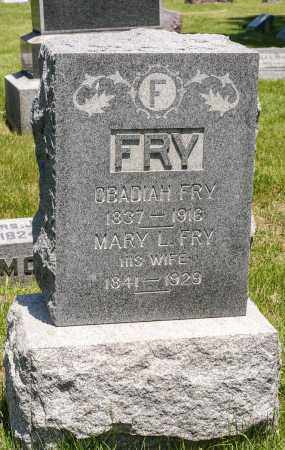 FRY, MARY L. - Crawford County, Ohio | MARY L. FRY - Ohio Gravestone Photos