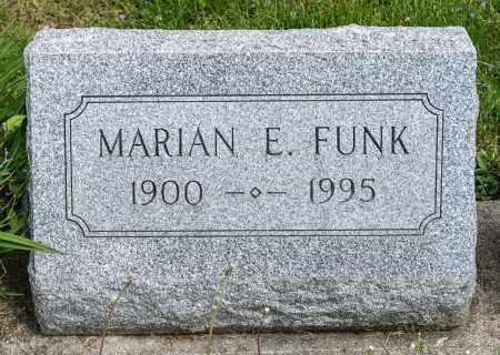 FUNK, MARIAN E. - Crawford County, Ohio | MARIAN E. FUNK - Ohio Gravestone Photos