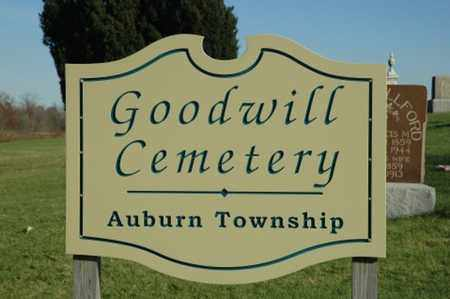 GOODWILL, CEMETERY - Crawford County, Ohio | CEMETERY GOODWILL - Ohio Gravestone Photos