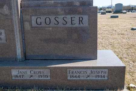 CROWE GOSSER, JANE - Crawford County, Ohio | JANE CROWE GOSSER - Ohio Gravestone Photos