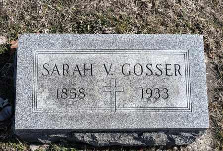 GOSSER, SARAH V - Crawford County, Ohio | SARAH V GOSSER - Ohio Gravestone Photos