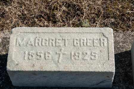 GREER, MARGRET - Crawford County, Ohio | MARGRET GREER - Ohio Gravestone Photos