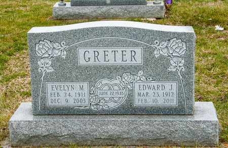 GRETER, EDWARD J - Crawford County, Ohio | EDWARD J GRETER - Ohio Gravestone Photos