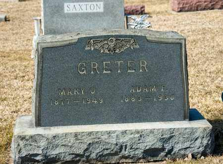GRETER, ADAM F - Crawford County, Ohio | ADAM F GRETER - Ohio Gravestone Photos