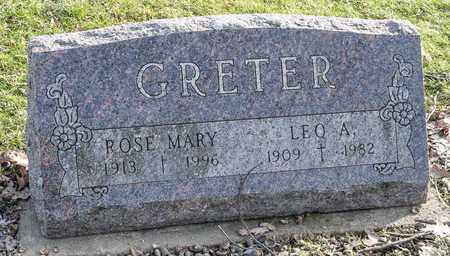 GRETER, ROSE MARY - Crawford County, Ohio | ROSE MARY GRETER - Ohio Gravestone Photos
