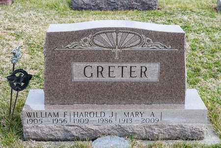 GRETER, MARY A - Crawford County, Ohio | MARY A GRETER - Ohio Gravestone Photos
