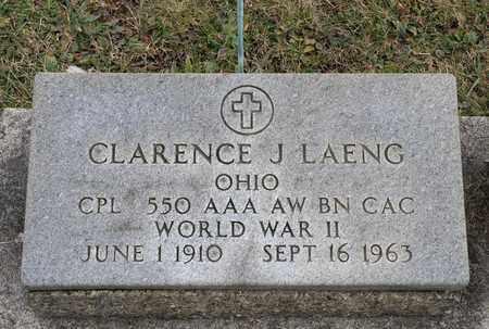 LAENG, CLARENCE J - Crawford County, Ohio | CLARENCE J LAENG - Ohio Gravestone Photos