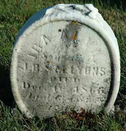 LYONS, IRA ALVA - Crawford County, Ohio   IRA ALVA LYONS - Ohio Gravestone Photos