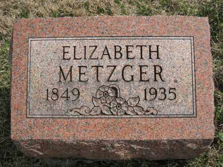 METZGER, ELIZABETH - Crawford County, Ohio | ELIZABETH METZGER - Ohio Gravestone Photos