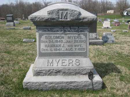 MYERS, SOLOMON - Crawford County, Ohio | SOLOMON MYERS - Ohio Gravestone Photos