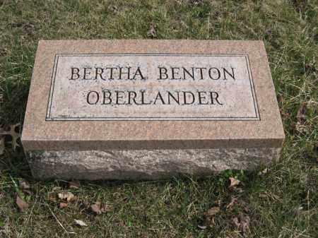 OBERLANDER, BERTHA BENTON - Crawford County, Ohio | BERTHA BENTON OBERLANDER - Ohio Gravestone Photos