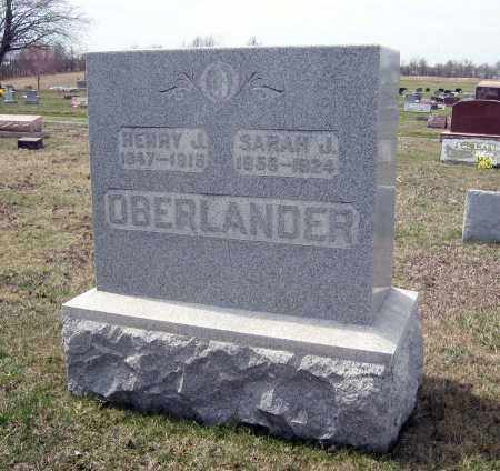 OBERLANDER, HENRY J. - Crawford County, Ohio | HENRY J. OBERLANDER - Ohio Gravestone Photos