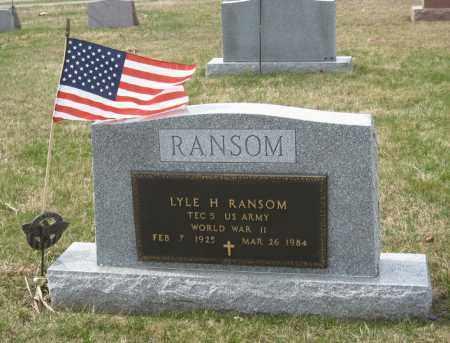 RANSOM, LYLE H - Crawford County, Ohio | LYLE H RANSOM - Ohio Gravestone Photos