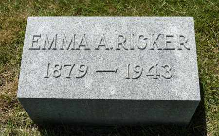 RICKER, EMMA A. - Crawford County, Ohio | EMMA A. RICKER - Ohio Gravestone Photos