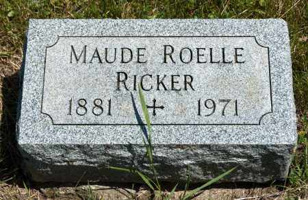 RICKER, MAUDE - Crawford County, Ohio | MAUDE RICKER - Ohio Gravestone Photos