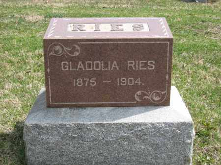 RIES MONUMENT, GLADOLIA - Crawford County, Ohio | GLADOLIA RIES MONUMENT - Ohio Gravestone Photos