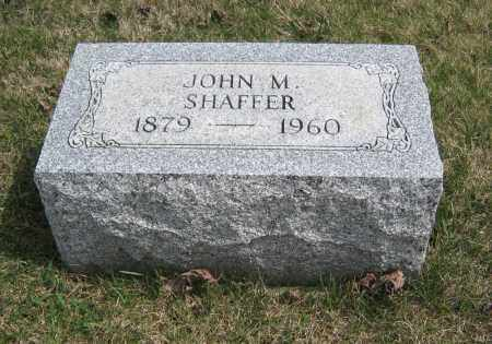 SHAFFER, JOHN M - Crawford County, Ohio | JOHN M SHAFFER - Ohio Gravestone Photos