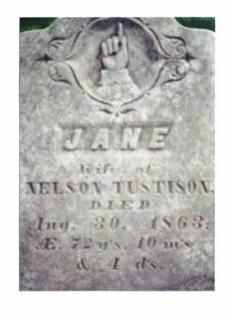 TUSTISON, JANE - Crawford County, Ohio | JANE TUSTISON - Ohio Gravestone Photos