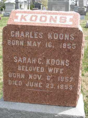 KOONS, SARAH C - Crawford County, Ohio | SARAH C KOONS - Ohio Gravestone Photos