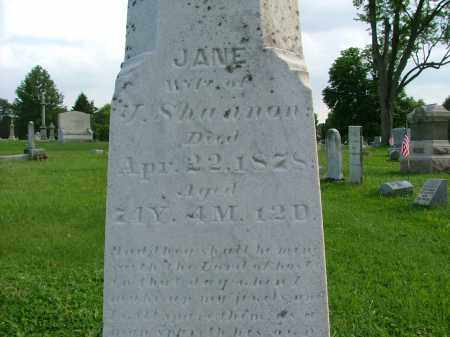 SHANNON, JANE - Crawford County, Ohio | JANE SHANNON - Ohio Gravestone Photos