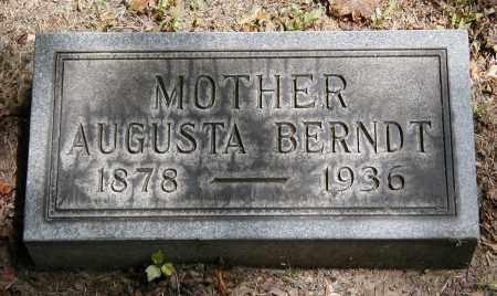 BERNDT, AUGUSTA - Cuyahoga County, Ohio | AUGUSTA BERNDT - Ohio Gravestone Photos