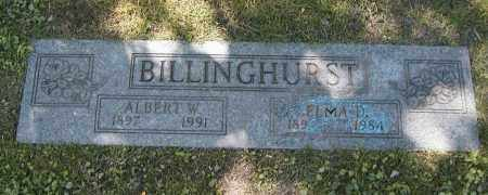 BILLINGHURST, ELMA D. - Cuyahoga County, Ohio | ELMA D. BILLINGHURST - Ohio Gravestone Photos
