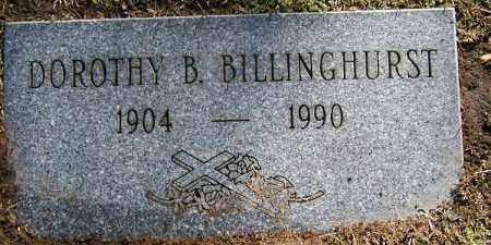 CARTER BILLINGHURST, DOROTHY B. - Cuyahoga County, Ohio | DOROTHY B. CARTER BILLINGHURST - Ohio Gravestone Photos