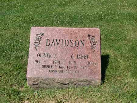 WILLSON DAVIDSON, O. JANET - Cuyahoga County, Ohio | O. JANET WILLSON DAVIDSON - Ohio Gravestone Photos