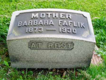 FAFLIK, BARBARA - Cuyahoga County, Ohio | BARBARA FAFLIK - Ohio Gravestone Photos