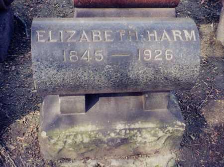 HARM, ELIZABETH - Cuyahoga County, Ohio | ELIZABETH HARM - Ohio Gravestone Photos
