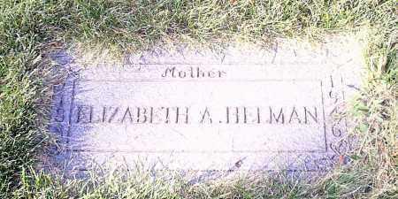 HELMAN, ELIZABETH - Cuyahoga County, Ohio | ELIZABETH HELMAN - Ohio Gravestone Photos