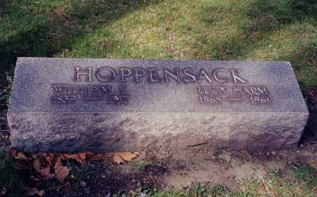 HARM HOPPENSACK, LUCY - Cuyahoga County, Ohio | LUCY HARM HOPPENSACK - Ohio Gravestone Photos