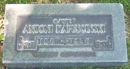 KAPUSCINSKI, ANTONI - Cuyahoga County, Ohio | ANTONI KAPUSCINSKI - Ohio Gravestone Photos