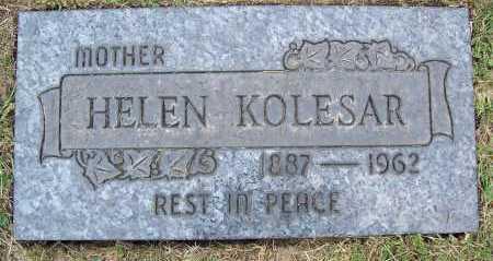 KOLESAR, HELEN - Cuyahoga County, Ohio | HELEN KOLESAR - Ohio Gravestone Photos