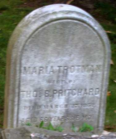 TROTMAN PRITCHARD, MARIA - Cuyahoga County, Ohio | MARIA TROTMAN PRITCHARD - Ohio Gravestone Photos