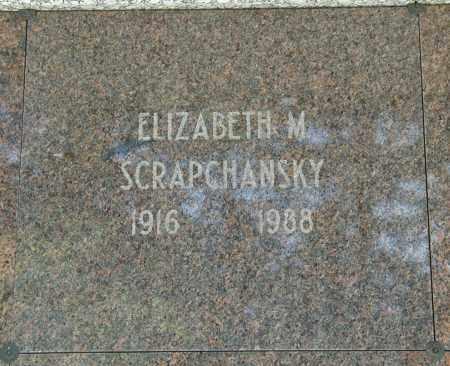SCRAPSCHANSKY, ELIZABETH M. - Cuyahoga County, Ohio | ELIZABETH M. SCRAPSCHANSKY - Ohio Gravestone Photos