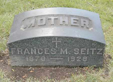 SEITZ, FRANCES M. - Cuyahoga County, Ohio | FRANCES M. SEITZ - Ohio Gravestone Photos