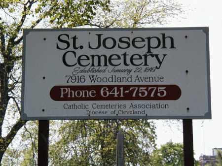 ST JOSEPH, CEMETERY SIGN - Cuyahoga County, Ohio | CEMETERY SIGN ST JOSEPH - Ohio Gravestone Photos