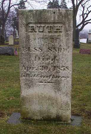 SNOW, RUTH - Cuyahoga County, Ohio | RUTH SNOW - Ohio Gravestone Photos