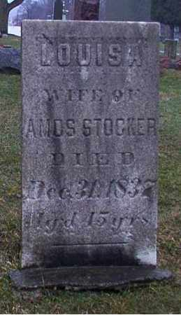 SNOW STOCKER, LOUISA - Cuyahoga County, Ohio | LOUISA SNOW STOCKER - Ohio Gravestone Photos