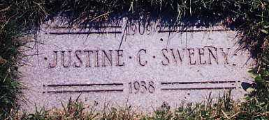 SWEENY, JUSTINE, C. - Cuyahoga County, Ohio | JUSTINE, C. SWEENY - Ohio Gravestone Photos
