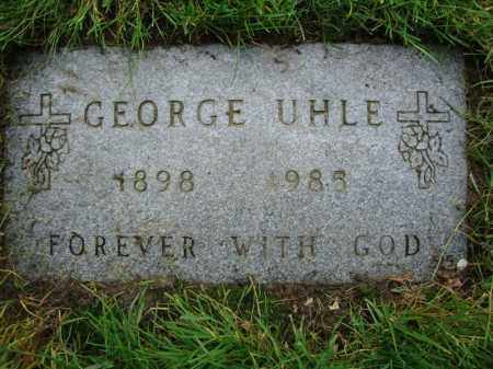 UHLE, GEORGE - Cuyahoga County, Ohio | GEORGE UHLE - Ohio Gravestone Photos