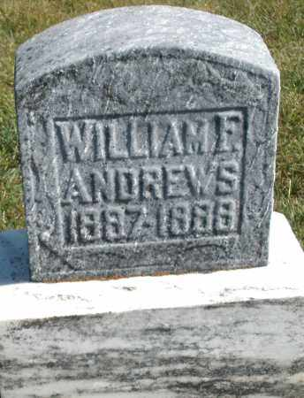 ANDREWS, WILLIAM F. - Darke County, Ohio | WILLIAM F. ANDREWS - Ohio Gravestone Photos