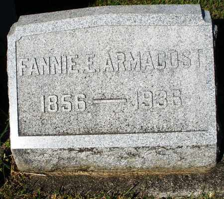 ARMACOST, FANNIE E. - Darke County, Ohio | FANNIE E. ARMACOST - Ohio Gravestone Photos
